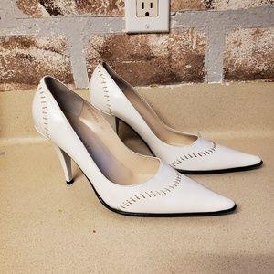 Patrizia Pancaldi stitch baseball heels pumps